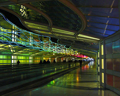 Poster featuring the photograph O'hare Color by Rhonda McDougall