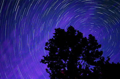 Poster featuring the photograph Ohio Night Sky - Star Trails by Gregory Ballos