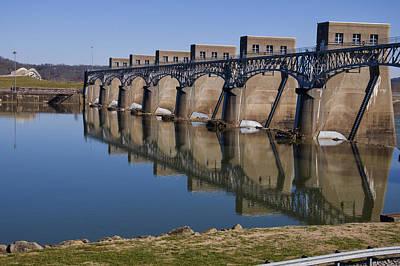 Ohio River Dam Poster by Chris Flees