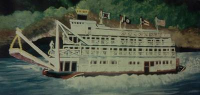 Ohio Riverboat Poster by Christy Saunders Church