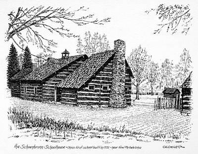 Ohio Schoolhouse, 1772 Poster by Granger