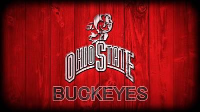 Ohio State Buckeyes Barn Door Vignette Poster