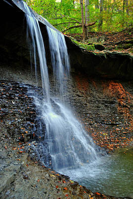 Ohio Waterfall Poster by Frozen in Time Fine Art Photography