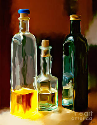 Oil And Vinegar Poster by Ted Guhl