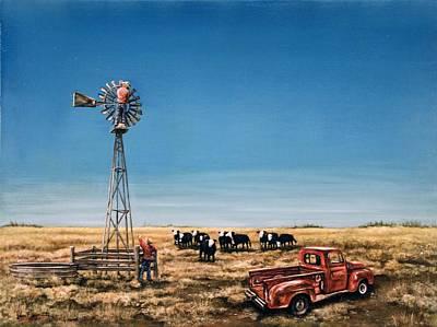 Oil Change Poster by Laurie Tietjen