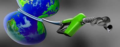 Oil Choking Earth Poster