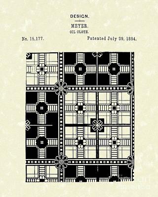 Oil Cloth 1884 Patent Art Poster