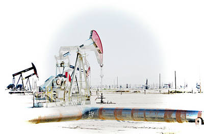 Poster featuring the photograph Oil Field by Joel Loftus