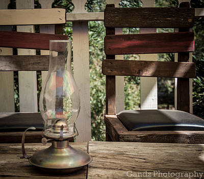 Poster featuring the digital art Oil Lamp 2 by Gandz Photography