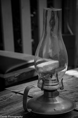 Poster featuring the digital art Oil Lamp by Gandz Photography