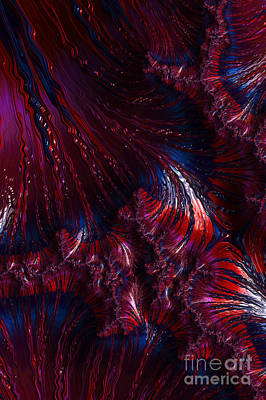 Oil On Water - A Fractal Abstract Poster by Ann Garrett
