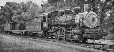 Oil Painted Train Poster by Brian Mollenkopf