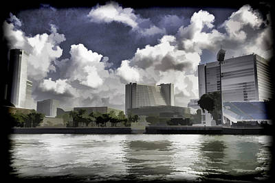 Oil Painting - Buildings Along The Waterfront In Singapore Poster