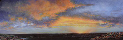 Oil Painting When The Sky Turns Color Poster