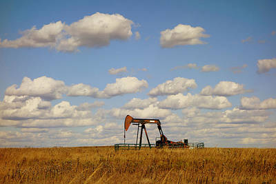 Oil Pump Jack On The Prairie Poster
