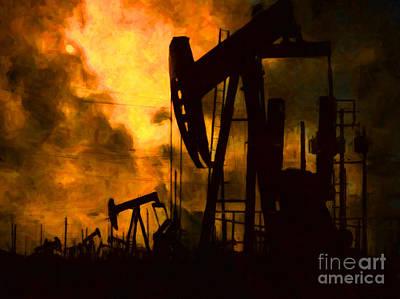 Oil Pumps Poster