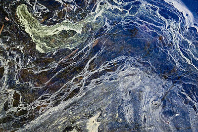 Oil Spill Abstract Poster by Dancasan Photography