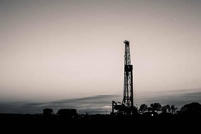 Oil Well Sunset Poster