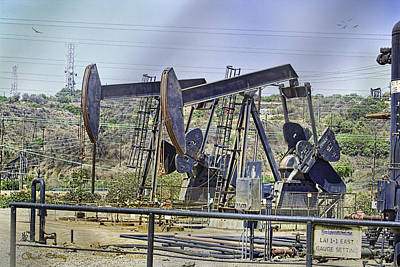 Oil Wells Pumping Poster by Chuck Staley