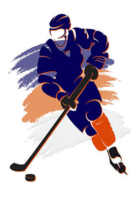 Oilers Shadow Player2 Poster by Joe Hamilton