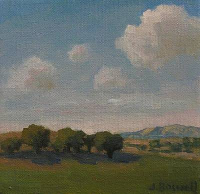 Poster featuring the painting Ojai Oaks by Jennifer Boswell