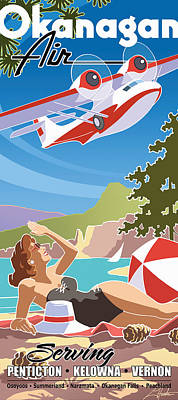 Okanagan Air, Mid Century Fun Poster