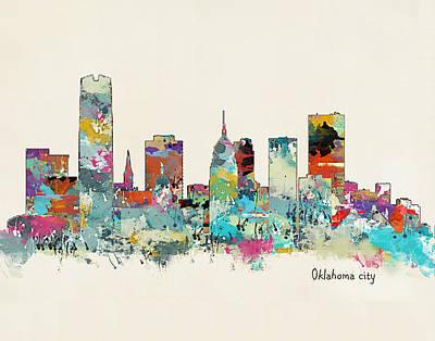 Oklahoma City Oklahoma Poster by Bri B