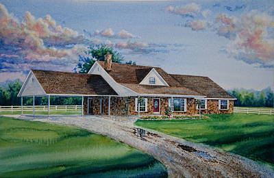 Oklahoma Country Home Poster by Hanne Lore Koehler