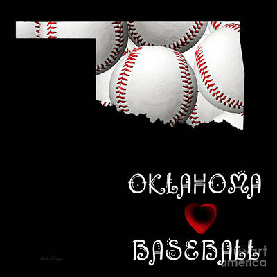 Oklahoma Loves Baseball Poster