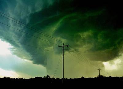 Poster featuring the photograph Oklahoma Mesocyclone by Ed Sweeney