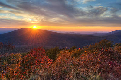 Poster featuring the photograph Oklahoma Mountain Sunset - Talimena Scenic Byway by Gregory Ballos