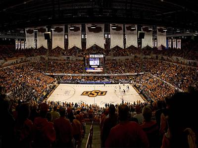 Oklahoma State Cowboys Gallagher-iba Arena Poster by Replay Photos