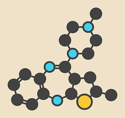 Olanzapine Antipsychotic Drug Molecule Poster by Molekuul