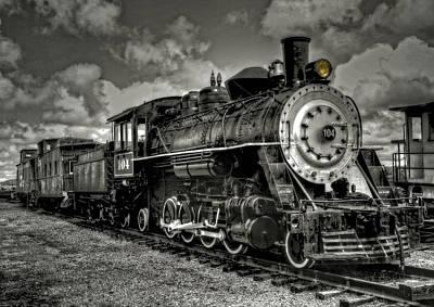 Old 104 Steam Engine Locomotive Poster