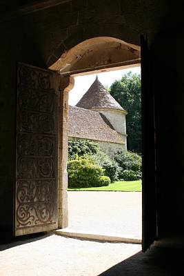 Old Abbey Church Door - Abbey Fontenay Poster