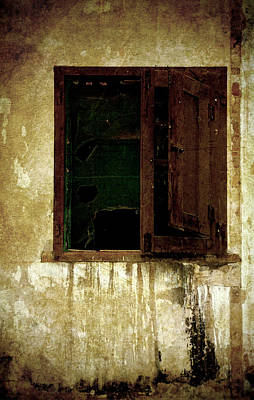 Old And Decrepit Window Poster
