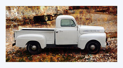 An Old And New Ford Truck Poster by Carla Parris