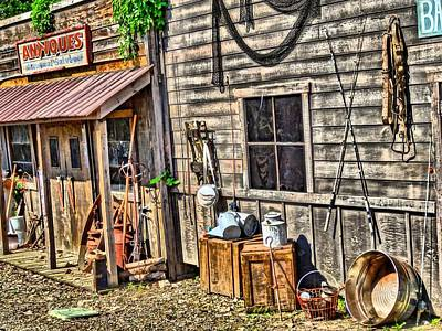 Old Bait Shop And Antiques Poster
