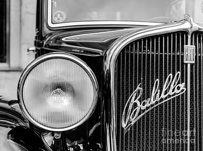 Old Balilla Car Poster