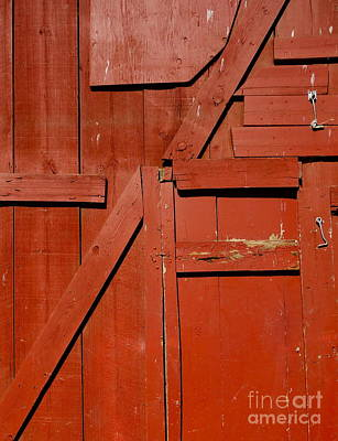 Old Barn Door 1 Poster by Jacqueline Athmann