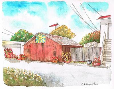 Old Barn In Lompoc, California Poster by Carlos G Groppa