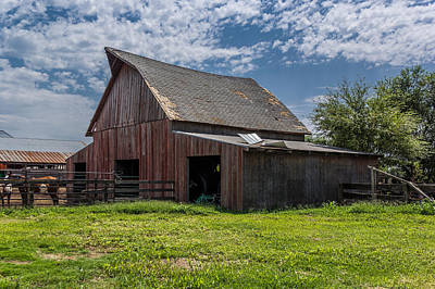 Poster featuring the photograph Old Barn by Jay Stockhaus