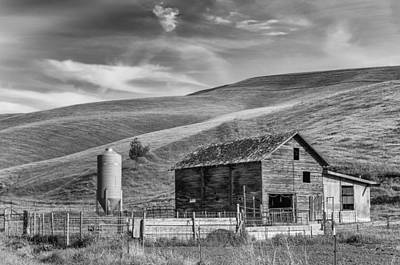 Poster featuring the photograph Old Barn Monochrome by Chris McKenna