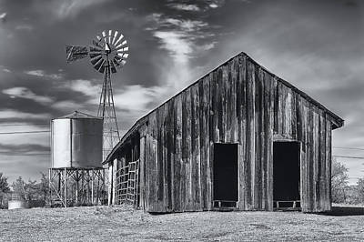 Old Barn No Wind Poster by Mark Myhaver