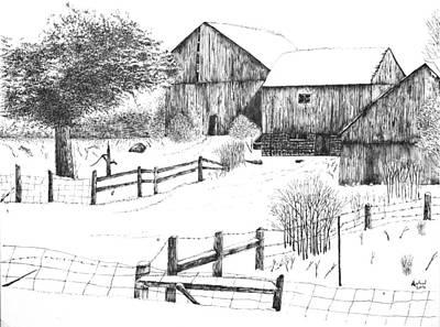 Old Barn Poster by Rahul Jain
