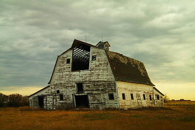 Old Barn Ready To Fall Poster