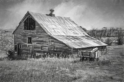 Old Nebraska Barn - Wagon Poster