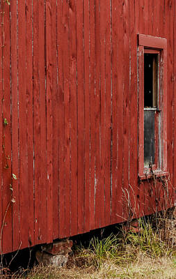 Poster featuring the photograph Old Barn Window by Debbie Karnes