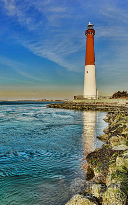 Poster featuring the photograph Old Barney At Sunrise - Barnegat Lighthouse by Lee Dos Santos