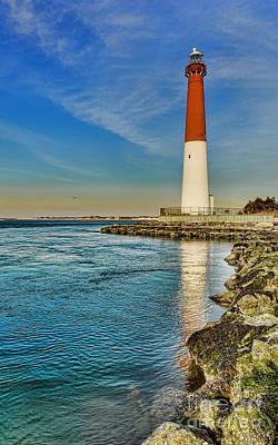 Old Barney At Sunrise - Barnegat Lighthouse Poster by Lee Dos Santos